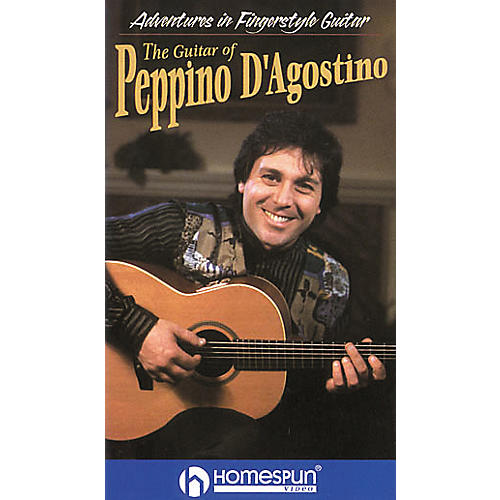 Homespun Adventures in Fingerstyle Guitar - Peppino D'Agostino (VHS)-thumbnail