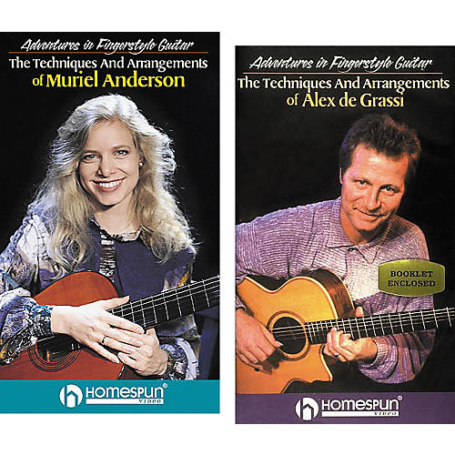 Homespun Adventures in Fingerstyle Guitar 2-Video Set (VHS)-thumbnail