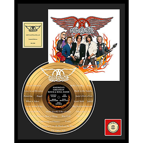 24 Kt. Gold Records Aerosmith - World's Greatest... Etched Gold LP Limited Edition of 2500