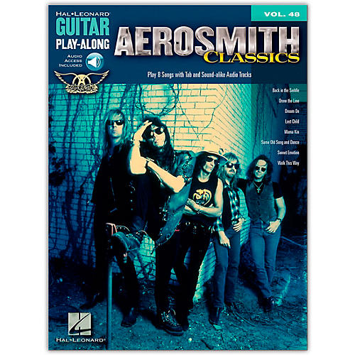 Hal Leonard Aerosmith Classics - Guitar Play-Along Volume 48 (Book/Online Audio)-thumbnail