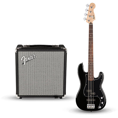 squier affinity series pj bass pack with fender rumble 15w 1x8 bass combo amp musician 39 s friend. Black Bedroom Furniture Sets. Home Design Ideas