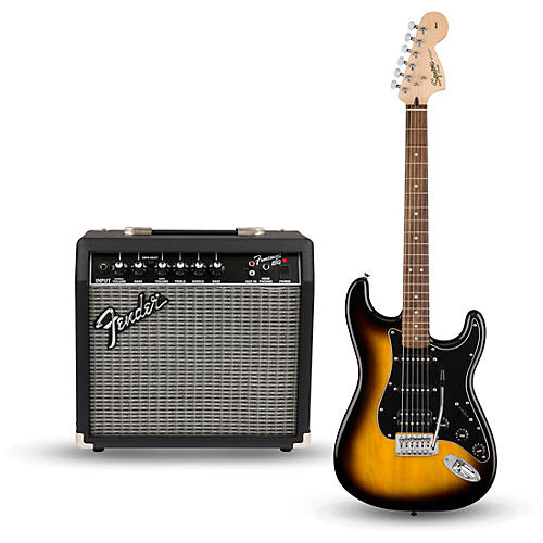 Squier Affinity Series Strat Pack HSS Electric Guitar with Fender Frontman 15G Amp-thumbnail