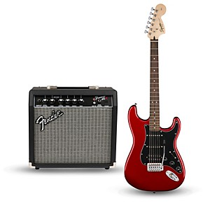 squier affinity series strat pack hss electric guitar with fender frontman 15g amp musician 39 s. Black Bedroom Furniture Sets. Home Design Ideas