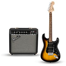 Open Box Squier Affinity Series Strat Pack HSS Electric Guitar with Fender Frontman 15G Amp