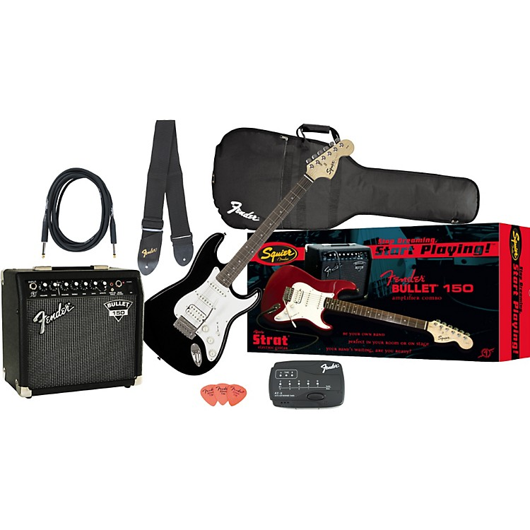 Fender Affinity Strat HSS and Bullet 150 DSP Amp Value Pack