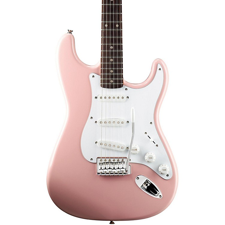 Squier Affinity Stratocaster Electric Guitar with Rosewood Fingerboard Shell Pink Rosewood Fingerboard