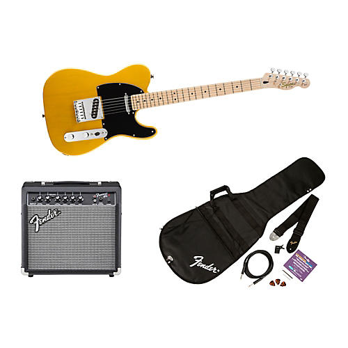 Squier Affinity Telecaster Electric Guitar Pack w/ 15G Amplifier Butterscotch Blonde