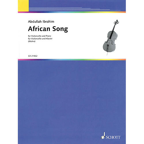 Schott African Song (for Cello and Piano) String Series Softcover