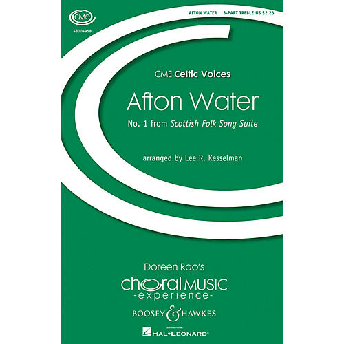 Boosey and Hawkes Afton Water (No. 1 from Scottish Folk Song Suite) 3 Part Treble A Cappella by Lee R. Kesselman-thumbnail