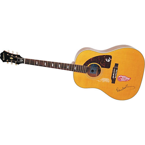 Epiphone Aged Texan Acoustic Guitar Signed by Paul McCartney. #1 of only 40 produced!