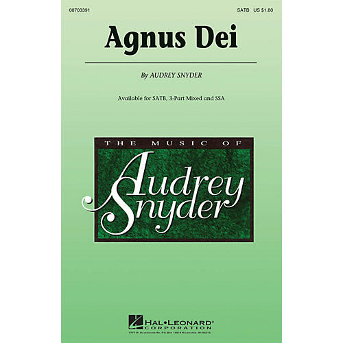 Hal Leonard Agnus Dei 3-Part Mixed Composed by Audrey Snyder