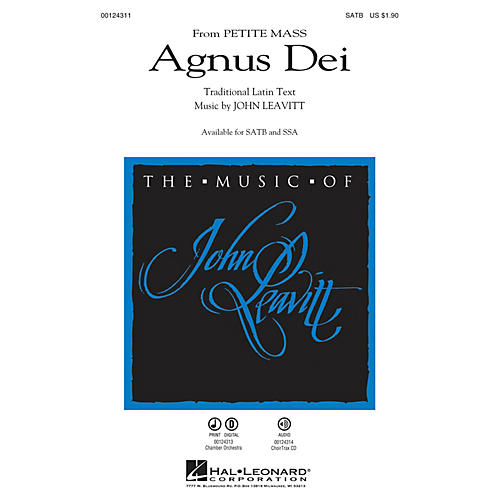 Hal Leonard Agnus Dei (from Petite Mass) SSA Composed by John Leavitt