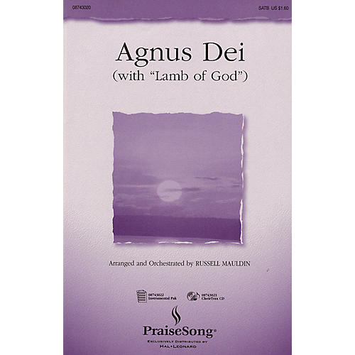 PraiseSong Agnus Dei (with Lamb of God) (SATB) SATB arranged by Russell Mauldin-thumbnail