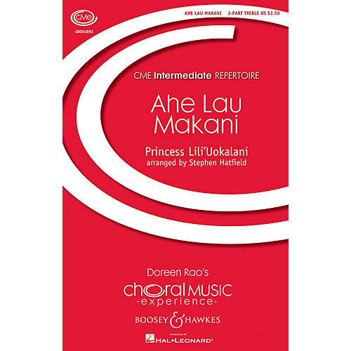 Boosey and Hawkes Ahe Lau Makani (CME Intermediate) SSA composed by Lili'Uokalani arranged by Stephen Hatfield-thumbnail