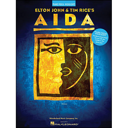 Hal Leonard Aida Piano/Vocal Highlights by Elton John & Time Rice arranged for piano, vocal, and guitar (P/V/G)-thumbnail