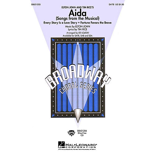 Hal Leonard Aida (Songs from the Musical) SATB arranged by Ed Lojeski-thumbnail