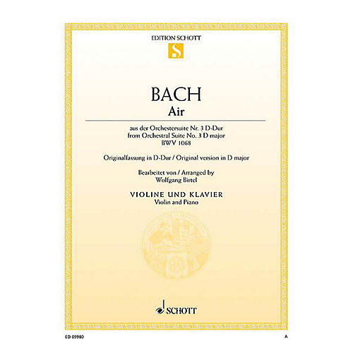 Schott Air from Orchestral Suite No. 3 in D Major BWV 1068 String Series Softcover-thumbnail