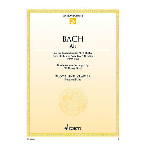 Schott Air from Orchestral Suite No. 3 in D Major BWV 1068 Woodwind Series Softcover-thumbnail