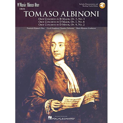 Music Minus One Albinoni - Oboe Concerti B-flat Op 7 No 3 D Maj Op 7 No 6 D Min Op 9 No 2 Music Minus One BK/CD by Kimmel-thumbnail
