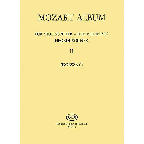 Editio Musica Budapest Album for Violin - Volume 2: Duos EMB Series Composed by Wolfgang Amadeus Mozart-thumbnail