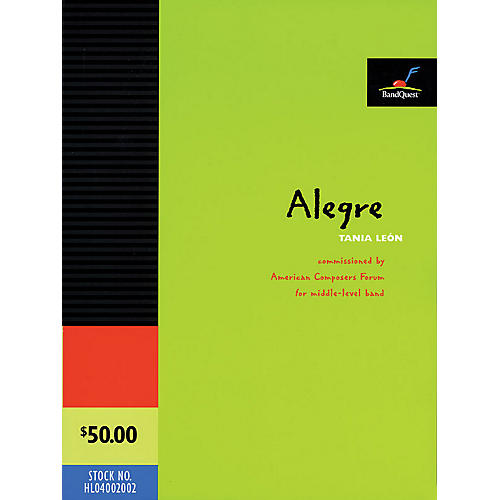 American Composers Forum Alegre (BandQuest Series Grade 3) Concert Band Level 3 Composed by Tania León-thumbnail