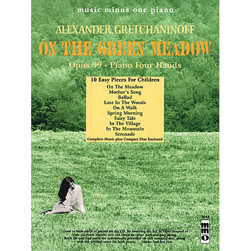 Music Minus One Alexander Gretchaninoff - On the Green Meadow Music Minus One BK/CD by Alexander Gretchaninoff