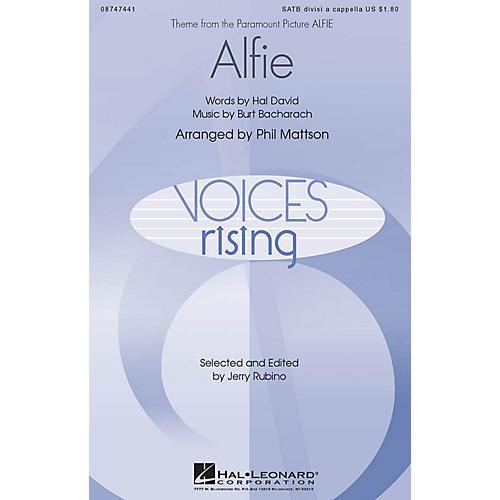 Hal Leonard Alfie SATB a cappella arranged by Phil Mattson