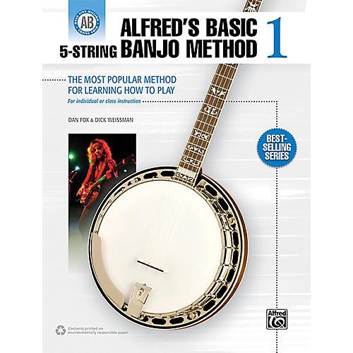Alfred Alfred's Basic 5-String Banjo Method 1 Book-thumbnail