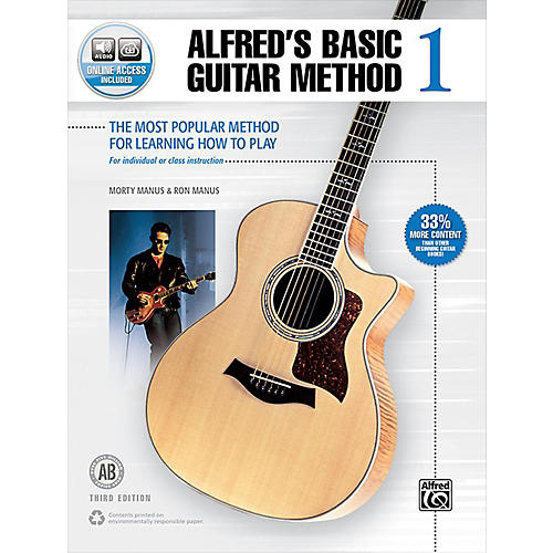 Alfred Alfred's Basic Guitar Method 1 Book & Online Audio 3rd Edition-thumbnail