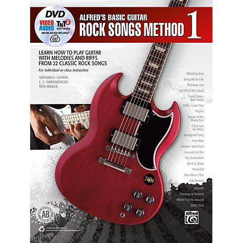 Alfred Alfred's Basic Guitar Rock Songs Method 1 Book, DVD & Online Audio, Video & Software-thumbnail
