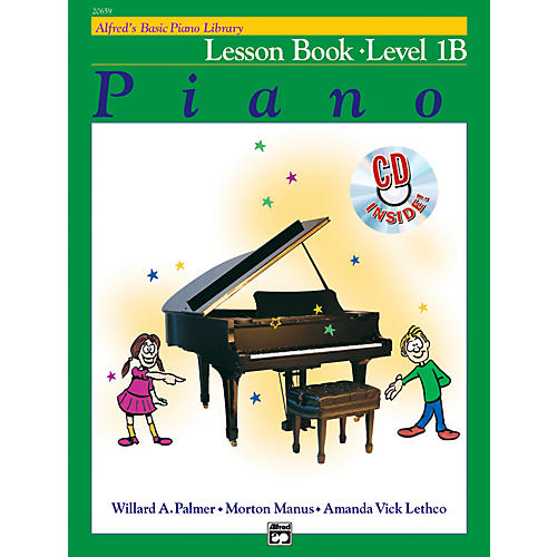 Alfred Alfred's Basic Piano Course Lesson Book 1B Book 1B & CD-thumbnail