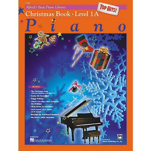 Alfred Alfred's Basic Piano Course Top Hits! Christmas Book 1A-thumbnail