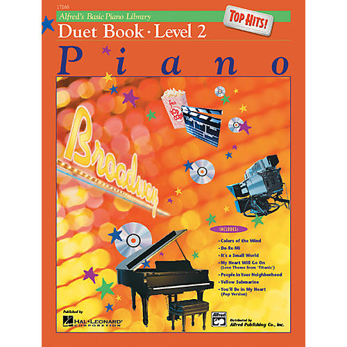 Alfred Alfred's Basic Piano Course Top Hits! Duet Book 2 Book 2