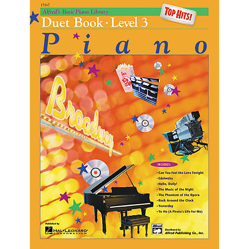 Alfred Alfred's Basic Piano Course Top Hits! Duet Book 3
