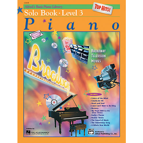 Alfred Alfred's Basic Piano Course Top Hits! Solo Book 3