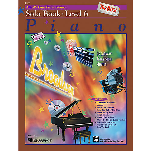 Alfred Alfred's Basic Piano Course Top Hits! Solo Book 6