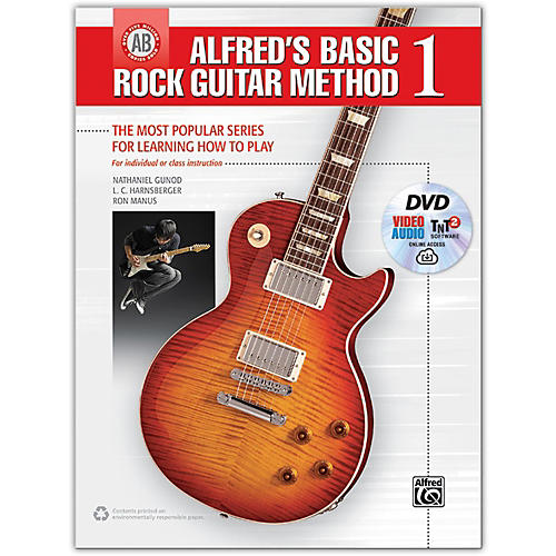 Alfred Alfred's Basic Rock Guitar Method 1 - Book, DVD & Online Audio, Video & Software-thumbnail