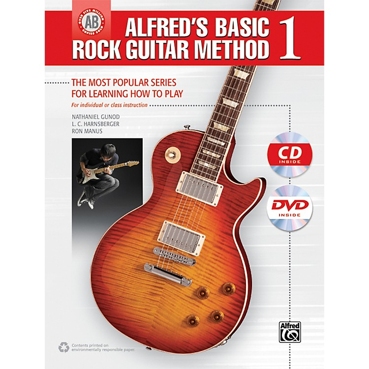 Alfred Alfred's Basic Rock Guitar Method 1 (Book/CD/DVD)