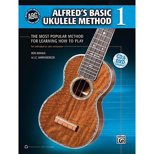 Alfred Alfred's Basic Ukulele Method 1 - Book, CD & DVD-thumbnail
