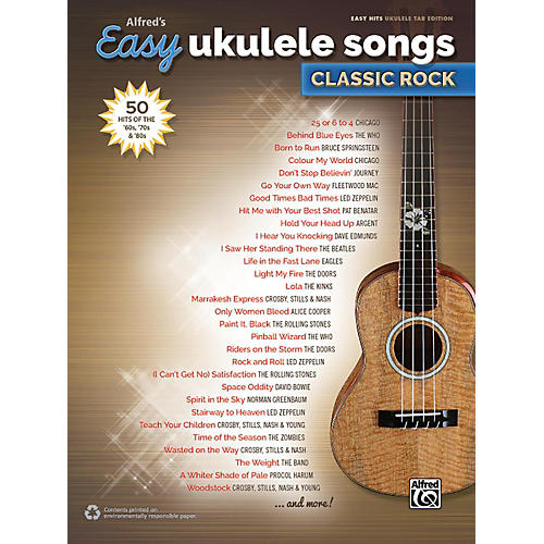 Alfred Alfred's Easy Ukulele Songs: Classic Rock - Easy Hits Ukulele TAB-thumbnail
