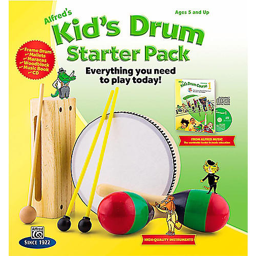 Alfred Alfred's Kid's Drum Course Complete Starter Pack-thumbnail