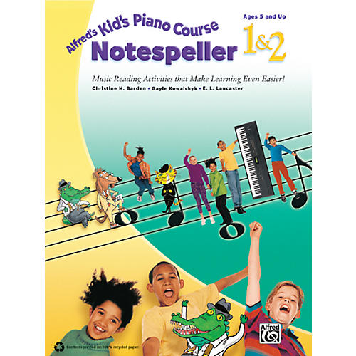 Alfred Alfred's Kid's Piano Course Notespeller 1 & 2 Book