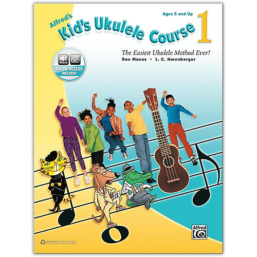 Alfred Alfred's Kid's Ukulele Course 1 - Book & Online Audio-thumbnail