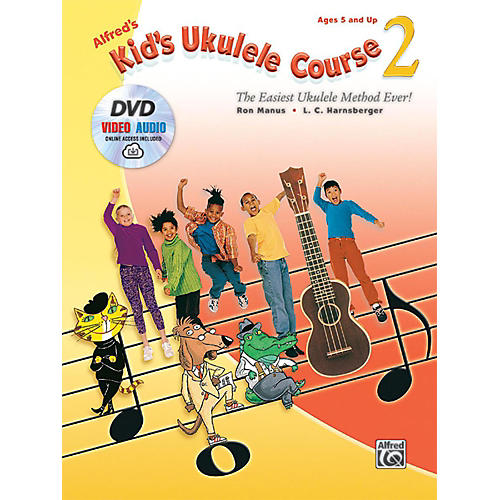 Alfred Alfred's Kid's Ukulele Course 2 Book DVD & Online Audio & Video-thumbnail