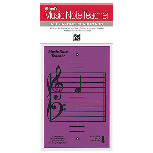 Alfred Alfred's Music Note Teacher All-In-One Flashcard Purple-thumbnail