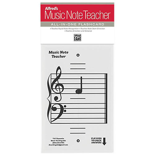Alfred Alfred's Music Note Teacher All-In-One Flashcard White