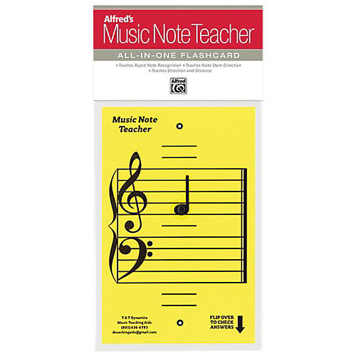 Alfred Alfred's Music Note Teacher All-In-One Flashcard Yellow-thumbnail