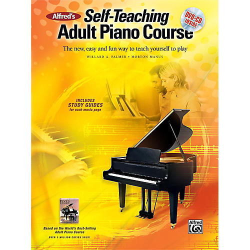 Alfred Alfred's Self-Teaching Adult Piano Course Book, CD & DVD-thumbnail