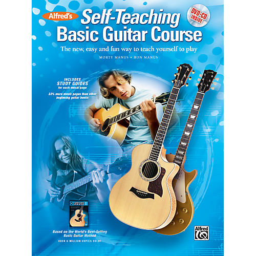 Alfred Alfred's Self-Teaching Basic Guitar Course Book, CD & DVD