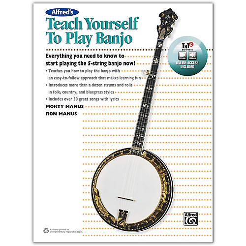 Alfred Alfred's Teach Yourself to Play Banjo Book, CD & DVD-thumbnail